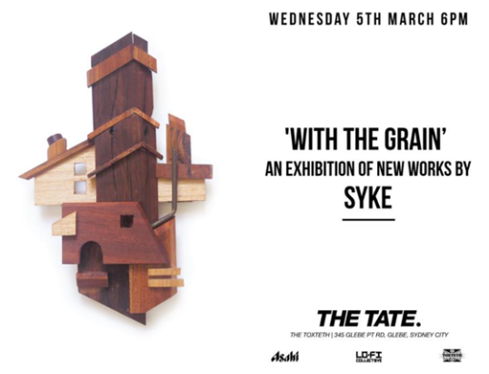 WED 05.03.14: 'WITH THE GRAIN' By Syke
